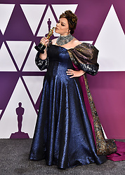 Ruth Carter with the award for Best Costume Design for Black Panther in the press room at the 91st Academy Awards held at the Dolby Theatre in Hollywood, Los Angeles, USA.