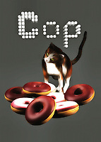 In this fine art example, this cat cop is on the case! You can imagine that when it comes to bringing the bad guys down, this cat knows exactly what to do. At the same time, like any human being, cats also like to treat themselves. Perhaps, this cat put themselves to work on discovering the case of the missing donuts. If that is indeed the case, then you can plainly see that the cat has uncovered this engaging mystery. The donuts have been found, and it's on to the next case. This cute art piece can be installed anywhere you please. .<br />