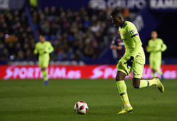 January 10, 2019 - Valencia, Valencia, Spain - Ousmane Dembele of FC Barcelona during the Spanish Copa del Rey match between Levante and Barcelona at Ciutat de Valencia Stadium on Jenuary 10, 2019 in Valencia, Spain. (Credit Image: © AFP7 via ZUMA Wire)