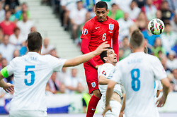Chris Smalling of England vs Branko Ilic of Slovenia during the EURO 2016 Qualifier Group E match between Slovenia and England at SRC Stozice on June 14, 2015 in Ljubljana, Slovenia. Photo by Vid Ponikvar / Sportida