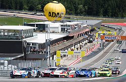 10.06.2017, Red Bull Ring, Spielberg, AUT, ADAC GT Masters, Spielberg, 1. Rennen, im Bild v.l.: Jules Gounon (FRA)/Daniel Keilwitz (GER) Callaway Competition, Robert Renauer (GER)/Sven Mueller (GER) Precote Herberth Motorsport, Sebastian Asch (GER)/ Lucas Auer (AUT) BWT Muecke Motorsport, Sven Barth (GER)/Maximilian Hacklaender (GER) RWT Racing // French ADAC GT Masters driver Jules Gounon/German ADAC GT Masters driver Daniel Keilwitz of Callaway Competition German ADAC GT MAsters driver Robert Renauer/German ADAC GT Masters driver Sven Mueller of Precote Herberth Motorsport German ADAC GT Masters driver Sebastian Asch/Austrian ADAC GT Masters driver Lucas Auer of BWT Muecke Motorsport German ADAC GT Masters driver Sven Barth/German ADAC GT Masters driver Maximilian Hacklaender of RWT Racing during the 1st race of the ADAC GT Masters at the Red Bull Ring in Spielberg, Austria on 2017/06/10. EXPA Pictures © 2017, PhotoCredit: EXPA/ Dominik Angerer