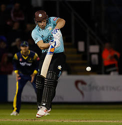 Surrey's Aaron Finch in action today <br /> <br /> Photographer Simon King/Replay Images<br /> <br /> Vitality Blast T20 - Round 14 - Glamorgan v Surrey - Friday 17th August 2018 - Sophia Gardens - Cardiff<br /> <br /> World Copyright © Replay Images . All rights reserved. info@replayimages.co.uk - http://replayimages.co.uk