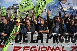July 13, 2017 - Buenos Aires, Argentina - Labor unions protest against dismissals in Buenos Aires, Argentina. (Credit Image: © Anton Velikzhanin via ZUMA Wire)