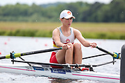 Race: 42  Women's Single Sculls - Championship - Heat<br /> <br /> The Metropolitan Regatta 2019<br /> Sunday<br /> <br /> To purchase this photo, or to see pricing information for Prints and Downloads, click the blue 'Add to Cart' button at the top-right of the page.
