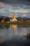The Alo Daw Pauck pagoda in the village of Pauck Par in Inle Lake, Myanmar