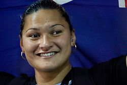 New Zealand's Valerie Vili celebrates after winning the women's shot put final of the 2009 IAAF Athletics World Championships on August 16, 2009 in Berlin, Germany. (Photo by Vid Ponikvar / Sportida)