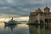 This steamboat passed by while I was shooting at the Chillon Castle on Lake Geneva.