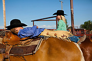 Little cowboy napping at the Three Forks Rodeo.