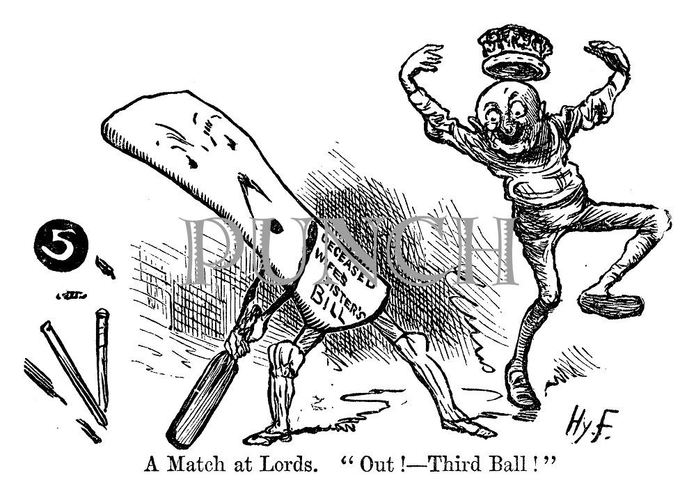 "A Match at Lords. ""Out! -- Third Ball!"""