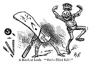 """A Match at Lords. """"Out! -- Third Ball!"""""""