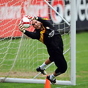 Galatasaray's goalkeeper Ufuk CEYLAN during their training session at the Jupp Derwall training center, Tuesday, April 20, 2010. Photo by TURKPIX