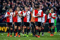 25-02-2017 NED: Feyenoord - PSV, Rotterdam<br /> 24e speelronde van seizoen 2016-2017, De Kuip / Feyenoord bedankt het publiek, sfeer