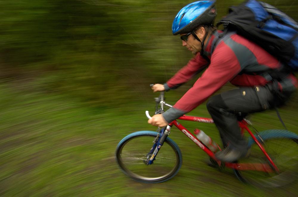 Mountain bike cycling, Smogen, Smögen; Bohuslän; Bohuslan, Sweden