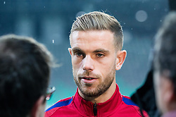 Jordan Henderson during pitch check of Team England 1 day before football match between National teams of Slovenia and England in Round #3 of FIFA World Cup Russia 2018 qualifications in Group F, on October 10, 2016 in SRC Stozice, Ljubljana, Slovenia. Photo by Vid Ponikvar / Sportida