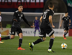 March 22, 2019 - Edson Alvarez (4) of Meixco gestures to Hector Moreno (15) during Mexico's 3-1 victory over Chile. (Credit Image: © Rishi Deka/ZUMA Wire)