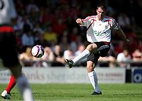 Photo: Paul Thomas.<br />Crewe Alexandra v Liverpool. Pre Season Friendly. 14/07/2007.<br /><br />Jamie Carragher of Liverpool shoots.