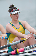 Brive, FRANCE,  AUS JW4X, Bow, Jessica HALL, Maddie EDMUNDS, Amy FOWLER and Alexandre HAGAn move of the start in their Semi Final of the junior women's quadruple sculls, at 'Lac du Causse', venue for the 2009 FISA Junior World Rowing Championships,  Brive La GAILLARDE. Friday  07/08/2009 [Mandatory Credit. Peter Spurrier/Intersport Images]
