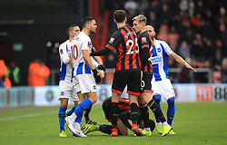 Bournemouth and Brighton & Hove Albion players class during the Emirates FA Cup, third round match at the Vitality Stadium, Bournemouth.
