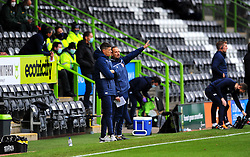 Stevenage manager Alex Revell watches his side from the side line- Mandatory by-line: Nizaam Jones/JMP - 17/10/2020 - FOOTBALL - innocent New Lawn Stadium - Nailsworth, England - Forest Green Rovers v Stevenage - Sky Bet League Two