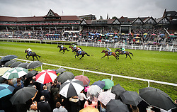 Lincoln Park ridden by Silvestre De Sousa on their way to victory in the Deepbridge Capital Handicap during Boodles Ladies Day at Chester Racecourse.