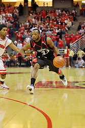 08 December 2007: Jamual Warren brings the ball to the 3 pt. arch.  The Cincinnati Bearcats take a loose against the Illinois State Redbirds 62-52 on Doug Collins Court in Redbird Arena on the campus of Illinois State University in Normal Illinois.