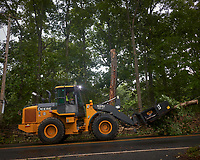 Tropical Storm Isaias Aftermath Day 4. Montgomery Township clearing the downed trees and debris on Grandview Road. Image taken with a Leica CL camera and 18 mm f/2.8 lens