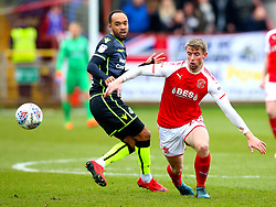 Jack Sowerby of Fleetwood Town takes on Byron Moore of Bristol Rovers - Mandatory by-line: Robbie Stephenson/JMP - 02/04/2018 - FOOTBALL - Highbury Stadium - Fleetwood, England - Fleetwood Town v Bristol Rovers - Sky Bet League One