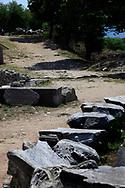 A Roman road in Philippi, near Kavala, Greece<br /><br />Photo by Dennis Brack