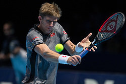 November 17, 2018 - Londres, Inglaterra - LONDRES, LO - 17.11.2018: ATP FINALS 2018 - Kevin Anderson (ZAF) in a match valid for the ATP Finals 2018 tournament held in London, England. (Credit Image: © Andre Chaco/Fotoarena via ZUMA Press)
