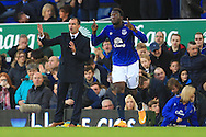 Romelu Lukaku of Everton celebrates his opening goal - Everton vs. West Ham United - Barclay's Premier League - Goodison Park - Liverpool - 22/11/2014 Pic Philip Oldham/Sportimage