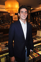 PHILLIP SACHS son of Rolf & Maryam Sachs at a party to celebrate the publication of Maryam Sach's novel 'Without Saying Goodbye' held at Sotheran's Bookshop, 2 Sackville Street, London on 10th November 2009.