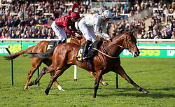 Mildenberger ridden by jockey James Doyle (right) beats Fortunes Pearl ridden by jockey Oisin Murphy to win the bet365 Feilden Stakes during day one of The Bet365 Craven Meeting at Newmarket Racecourse, Newmarket.