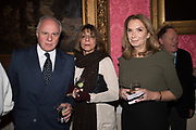 ANDREA CHIARI, LADY NAIPAUL, NANCY SLADEK, Literary Review  40th anniversary party and Bad Sex Awards,  In & Out Club, 4 St James's Square. London. 2 December 2019