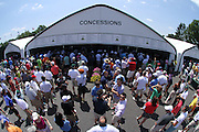 June 12 2013: General view of the concession pavilon during the wednesday practice round at the 2013 U.S. Open hosted by Merion Golf Club in Ardmore, PA.