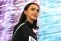 DOHA, Oct. 2, 2019  Gold medalist authorized neutral athlete Mariya Lasitskene looks on during the women's high jump awarding ceremony at the 2019 IAAF World Athletics Championships in Doha, Qatar, on Oct. 1, 2019. (Credit Image: © Li Ming/Xinhua via ZUMA Wire)