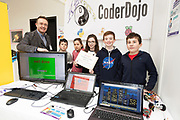 24/11/2019 repro free:  Paul Mee Chairman Galway  Science and Technology Festival with Coderdojo Kinvara who won the  Volunteer group award at the exhibition day of the Galway Science and Technology Festival at NUI Galway where over 20,000 people attended exhibition stands  from schools to Multinational Companies . Photo:Andrew Downes, xposure