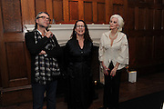 DAVID DOWNTON; PROF FRANCES CORNER; CARMEN DELL'OREFICE, London College of Fashion hosts party to celebrate the opening of Carmen: A Life in Fashion with guest of honour Carmen Dell'Orefice. Il Bottachio, Hyde Park Corner. London. 16 November 2011. <br /> <br />  , -DO NOT ARCHIVE-© Copyright Photograph by Dafydd Jones. 248 Clapham Rd. London SW9 0PZ. Tel 0207 820 0771. www.dafjones.com.