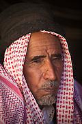 A Bedouin man in his remote home encampment in Wadi Rum, Jordan.