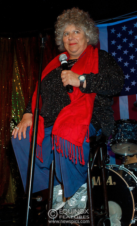 London, United Kingdom - 2 September 2009.Comedienne Ruby Wax and actresses Belinda Lang and Miriam Margolyes performing at gay bar the Royal Vauxhall Tavern, Vauxhall, London, England, UK on 2 September 2009..(photo by: EDWARD HIRST/EQUINOXFEATURES.COM).Picture Data:.Photographer: EDWARD HIRST.Copyright: ©2009 Equinox Licensing Ltd. +448700 780000.Contact: Equinox Features.Date Taken: 20090902.Time Taken: 211230+0000.www.newspics.com
