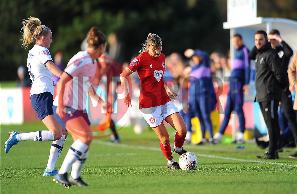 Gemma Evans of Bristol City in action- Mandatory by-line: Nizaam Jones/JMP - 27/10/2019 - FOOTBALL - Stoke Gifford Stadium - Bristol, England - Bristol City Women v Tottenham Hotspur Women - Barclays FA Women's Super League