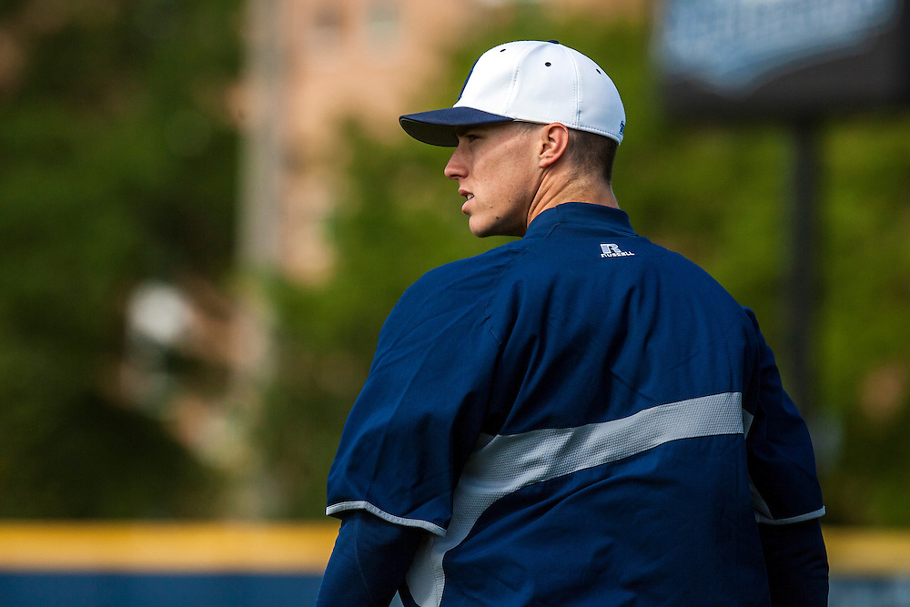 May 3, 2013; Norfolk, VA; ODU Monarchs right fielder Ben Verlander (32) looks on during batting practice before the game against the George Mason Patriots at the Bud Metheny Baseball Complex . Mandatory Credit: Peter Casey-USA TODAY Sports