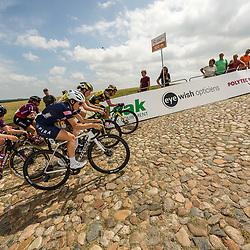 WIJSTER (NED) June 19: <br /> CYCLING <br /> Dutch Nationals Road WOMEN up and around the Col du VAM<br /> Yara Kastelijn, Marianne vos, Lonneke Uneken