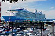 Cruise ship in Victoria, Canada harbor