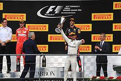 August 27, 2017 - Spa Francorchamps, BELGIQUE - Spa 27/08/2017 Formule 1 /GP F1 Belgique /Dimanche /Course/..Vettel N∞5 Ferrari-Hamilton N∞44 Mercedes-Ricciardo N∞3 Red Bull (Credit Image: © Panoramic via ZUMA Press)
