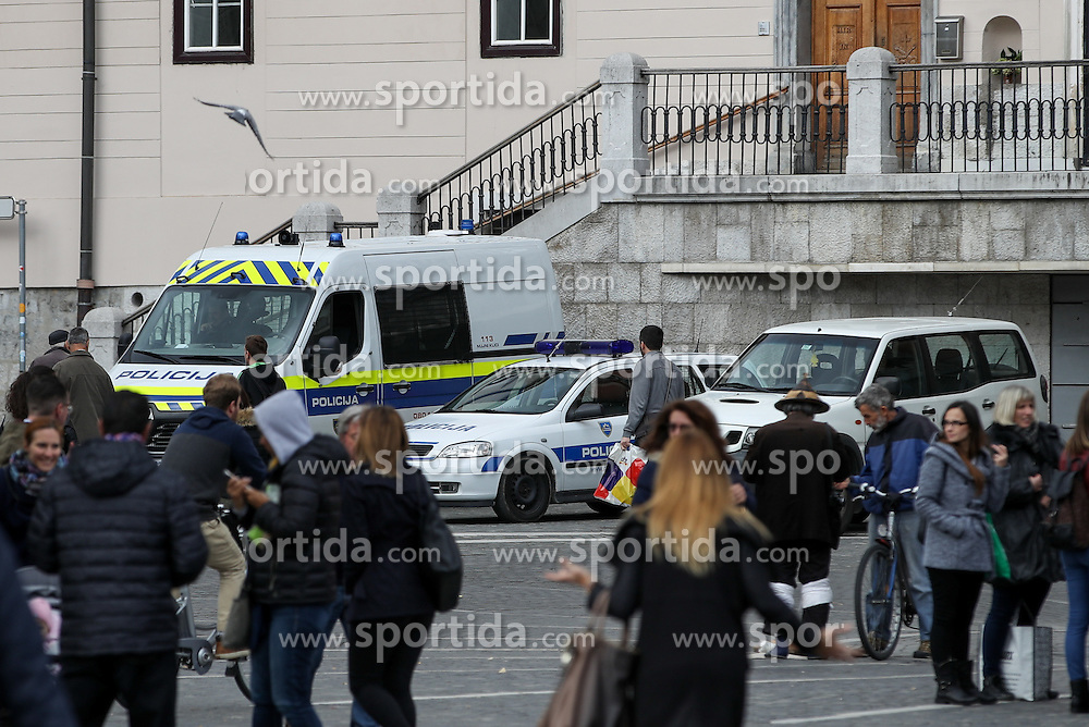 Police prior to the football match between National teams of Slovenia and England in Round #3 of FIFA World Cup Russia 2018 Qualifier Group F, on October 11, 2016 in Ljubljana, Slovenia. Photo by Matic Klansek Velej / Sportida