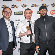 Mastering engineer of the year Winner kano and Matt  Colton of The Music Producers Guild Awards at Grosvenor House, Park Lane, on 27th February 2020, London, UK.