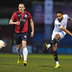 TELFORD COPYRIGHT MIKE SHERIDAN Brendon Daniels of Telford during the Vanarama Conference North fixture between AFC Telford United and York City at Bootham Crescent on Saturday, January 11, 2020.<br /> <br /> Picture credit: Mike Sheridan/Ultrapress<br /> <br /> MS201920-040