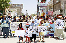 May 25, 2019 - Pakistan - LARKANA, PAKISTAN, MAY 26: Candidates of Primary School Teachers are holding .protest demonstration for acceptance of their demands, at Jinnah Bagh roundabout in Larkana on .Sunday, May 26, 2019. (Credit Image: © PPI via ZUMA Wire)