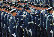 Royal Air Force march at the Battle of Britain Anniversary Parade, London, United Kingdom