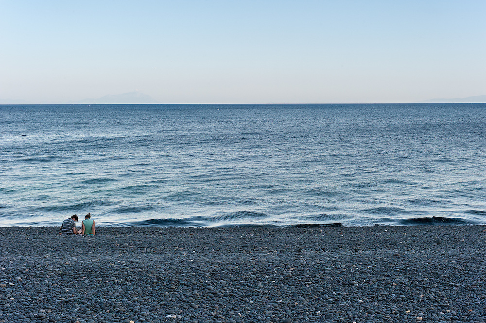 Mavra Volia is a beach with small black pebbles,  5 Km. from Pyrgi in the South East of Chios Island, Greece.